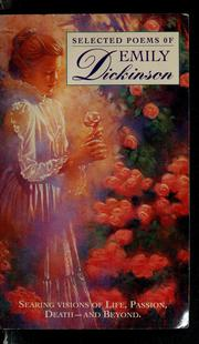 Cover of: Selected poems of Emily Dickinson