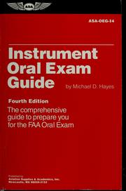 Cover of: Instrument oral exam guide | Michael D Hayes