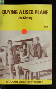 Cover of: Buying a used plane | Joe Christy