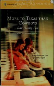 Cover of: More to Texas than cowboys