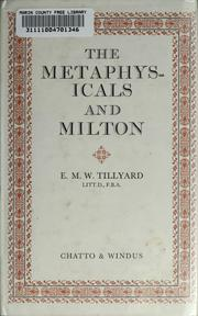 Cover of: The metaphysicals and Milton