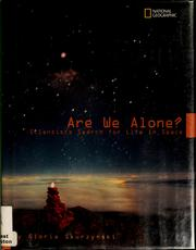 Cover of: Are we alone?
