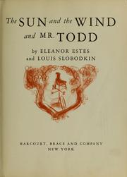 Cover of: The sun and the wind and Mr. Todd