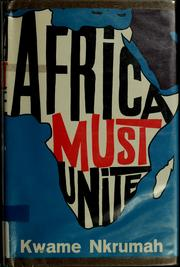 Cover of: Africa must unite