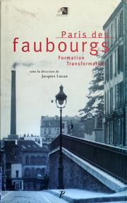 Cover of: Paris des faubourgs