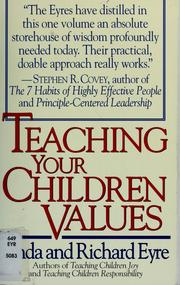 Cover of: Teaching your children values