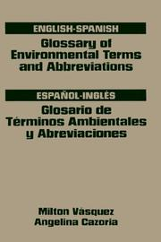 Cover of: English-Spanish glossary of environmental terms and abbreviations =