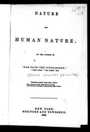 Cover of: Nature and human nature
