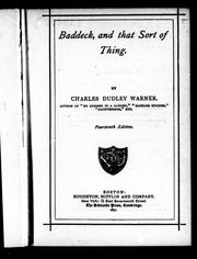 Cover of: Baddeck, and that sort of thing | Charles Dudley Warner