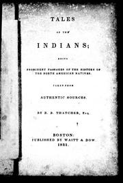 Cover of: Tales of the Indians