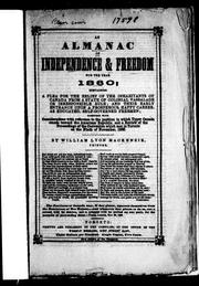 Cover of: An Almanac of independence & freedom for the year 1860