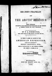 Sir John Franklin and the Arctic regions by P. L. Simmonds