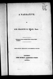 Cover of: A narrative
