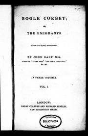 Cover of: Bogle Corbet, or, The emigrants