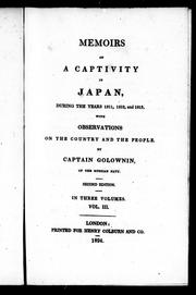 Cover of: Memoirs of a captivity in Japan, during the years 1811, 1812, and 1813