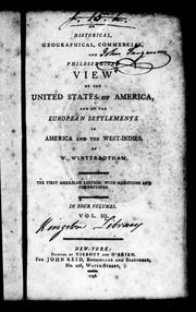 Cover of: An historical, geographical, commercial, and philosophical view of the United States of America