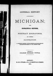 Cover of: General history of the state of Michigan