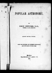 Cover of: Popular astronomy
