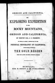 Cover of: The exploring expedition to the Rocky Mountains, Oregon and California