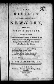 Cover of: The history of the provinces of New-York, from the first discovery