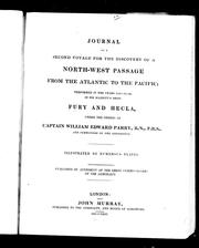 Cover of: Journal of a second voyage for the discovery of a north-west passage from the Atlantic to the Pacific