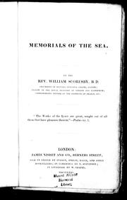 Cover of: Memorials of the sea
