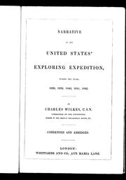 Cover of: Narrative of the United States' exploring expedition, during the years 1838, 1839, 1840, 1841, 1842
