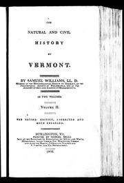 Cover of: The natural and civil history of Vermont