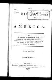 Cover of: [The] history of America