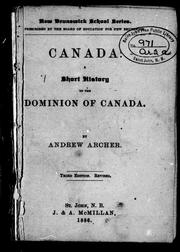 Cover of: Canada | Andrew Archer