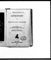 Cover of: Astronomy for schools and colleges