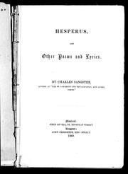 Cover of: Hesperus and other poems and lyrics