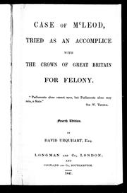 Cover of: Case of McLeod, tried as an accomplice with the crown of Great Britain for felony