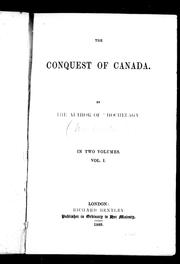 Cover of: The conquest of Canada