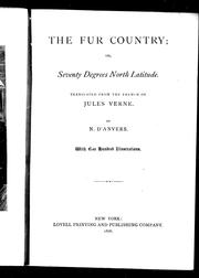 Cover of: The fur country, or, Seventy degrees north latitude