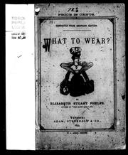 Cover of: What to wear?