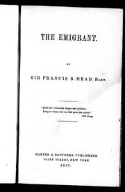 Cover of: The emigrant