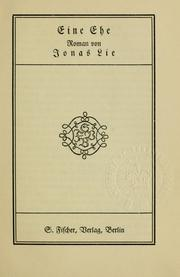 Cover of: Eine Ehe, Roman