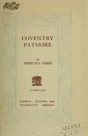 Cover of: Coventry Patmore