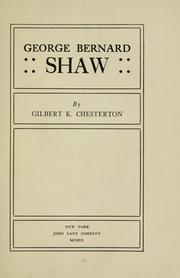 Cover of: George Bernard Shaw