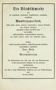 Cover of: Die Blechschmiede