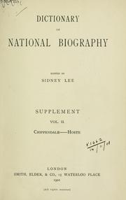 Cover of: The dictionary of national biography | Sir Sidney Lee