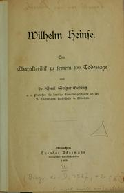 Cover of: Wilhelm Heinse