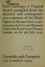 Cover of: Press cuttings
