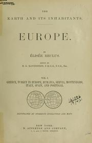 Cover of: The earth and its inhabitants