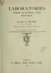 Cover of: Laboratories, their planning and fittings | Alan Edward Munby