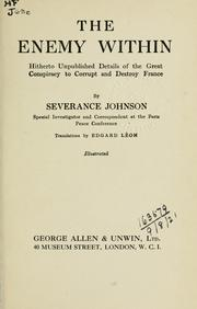 Cover of: The enemy within | Severance Johnson