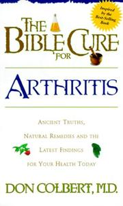 Cover of: The Bible Cure for Arthritis (Fitness and Health)