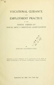 Cover of: Vocational guidance and employment practice in the North American Young Men's Christian Associations