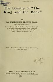 Cover of: The country of The ring and the book